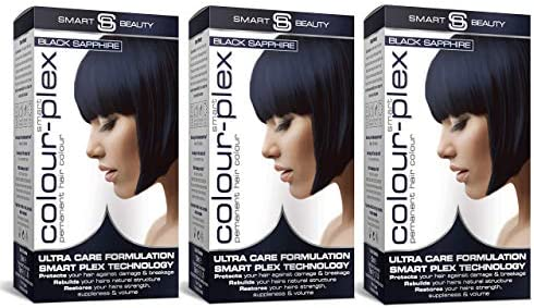 Smart Beauty Tinte de Pelo Permanente, Larga Duración Moda Color con Nutritivo Nio-Active Plex Tratamiento Capilar, 150ML Paquete X 3 Save 20% - ...
