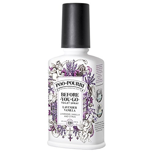 Poo-Pourri Before-You-Go Toilet Spray 8-Ounce Bottle, Lavend