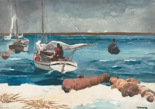 Winslow Homer - Nassau, Size 24x36 inch, Gallery wrapped canvas art print wall décor