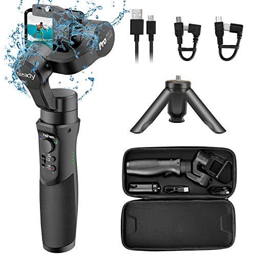 Hohem GoPro Gimbal Stabilizer, iSteady Pro 2, 3 Axis Splash-Proof Gimble IP64, Handheld Stabiliser for DJI Osmo Action,GoPro Hero 7/6/5/4/3,SJCam,YI 4K Action Camera (2019 New Model)