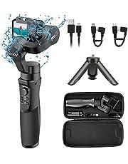 Gopro Gimbal Hohem iSteady Pro 2 Kit mit Handyhalter und Verlängerungsstab, 3-Achsen-Handstabilisator für Gopro 7/6/5/4/3, für Osmo Action Camera, für Action Cameras, Super Light für Vlgger (iSteady Pro 2 Kit)