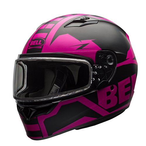 Bell Unisex-Adult Full Face Helmet (Matte Pink/Black, Small) ( QUALIFIER SNOW ELECTRIC SHIELD D.O.T certified snow off road) -
