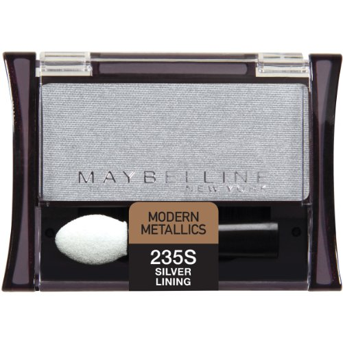 Maybelline New York Expert Wear Eyeshadow Singles, Silver Lining 235 Shimmer, 0.09 Ounce - Sensitive Eyes Eye Shimmer