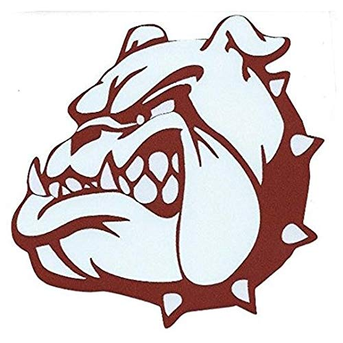Ross Stores Maroon Bulldog Mascot - Sticker Graphic - Auto, Wall, Laptop, Cell, Truck Sticker for Windows, Cars, Trucks