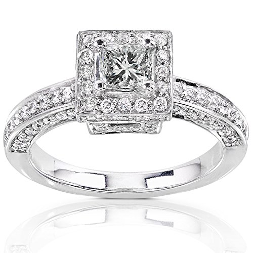 Princess Cut Diamond Engagement Ring 1 Carat (ctw) in 14K Gold