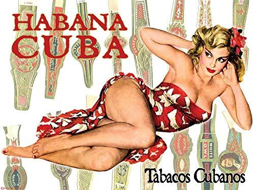- Gallery Prints Cuban Tobacco CIGAR BANDS Art Poster PINUP GIRL Print Havana Cuba - measures 24