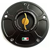 TWM Quick Action CNC Billet Fuel Gas Cap with Gold Handle fits Ducati ST2 ST3 ST4 748 916 996 998 848 1098 1198 MONSTER