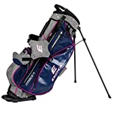 Tour Edge Exotics Extreme 4 Stand Bag 2018 Women Gray Scratch Plaid/Pink