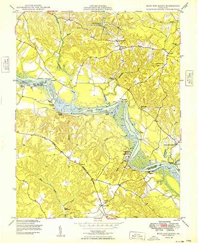 YellowMaps King and Queen VA topo map, ()