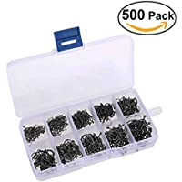 Tinksky A Box of 500pcs 10 Different Sizes Fishing Hooks...