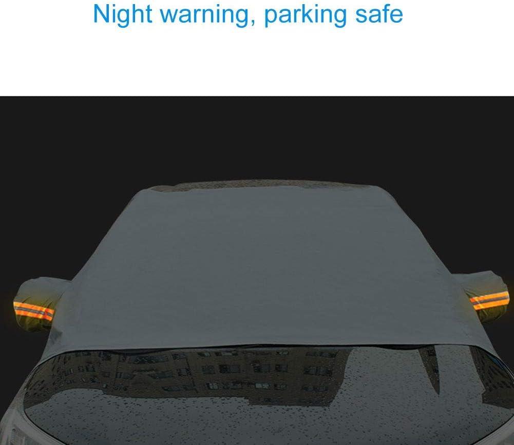 Glace Couverture de Neige de Pare-Brise de Voiture B/âche de Protection avec des Couvertures de R/étroviseur Lat/éral Protection pour Voiture Anti Givre Pluie Neige Soleil