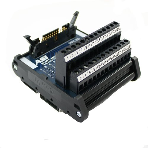 - ASI 10004 26 to 12 AWG IMRC26 DIN Rail Mount Interface Module, Flat Ribbon Cable to Wire Transition, 26 Position Ribbon Cable to Terminal Blocks, 2.99