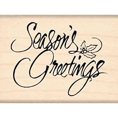 Stamps by Impression Season's Greetings Rubber Stamp: Arts, Crafts & Sewing