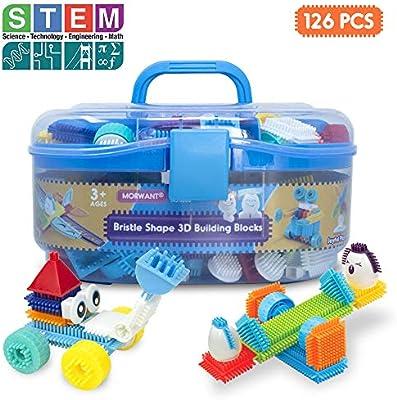 Set Bright Colors Motor Skills 112Pcs Battat Bristle Kids Basic Building Blocks