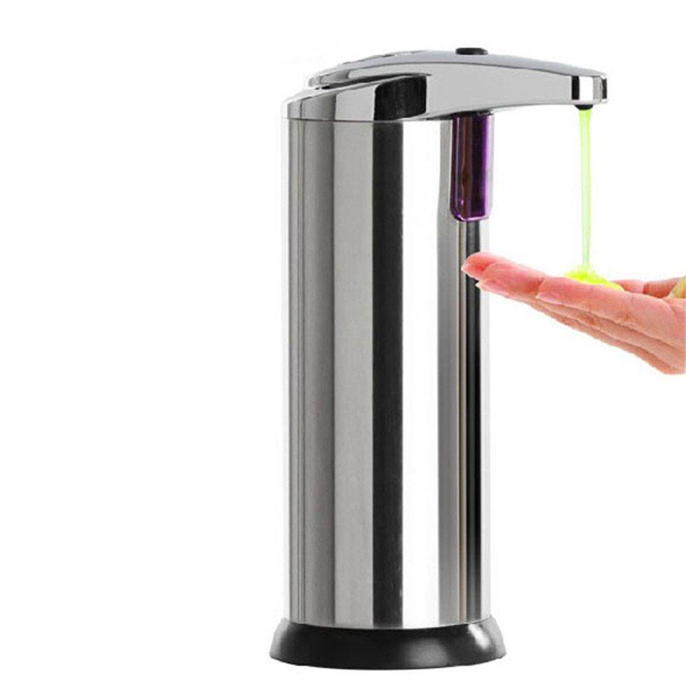 Ovovo Soap Liquid Dispenser Stainless Steel Hands Free Automatic Touchless with IR Sensor Liquid Soap Dispenser for Hand Washing Soap, Sanitizer, Shampoo, Dishwashing Liquid Etc. -280ml