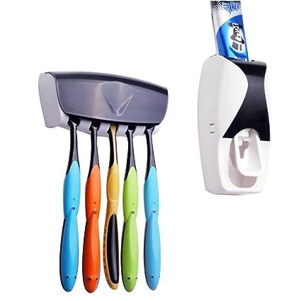 Dispensador de pasta de dientes cepillo de dientes Holder Set a prueba de pasta de dientes