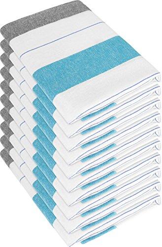 10 x Halbleinen Geschirrtuch Trockentuch 60x80 cm in Rot oder Blau Kariert Farbe New/Blue Größe 55 x 75 cm