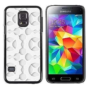TopCaseStore / la caja del caucho duro de la cubierta de protección de la piel - Pattern Cog Wheel Order Shadow Art - Samsung Galaxy S5 Mini, SM-G800, NOT S5 REGULAR!