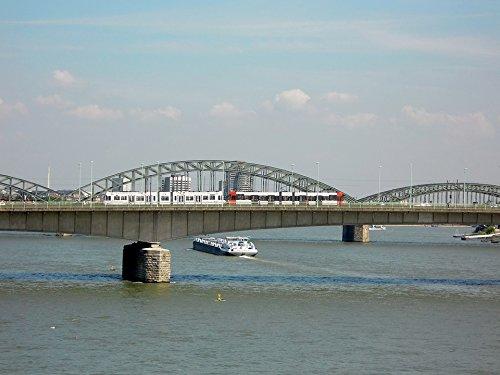 Framed Art for Your Wall River Rhine Hohenzollern Bridge Cologne Bridge 10x13 Frame (River Framed Rhine)