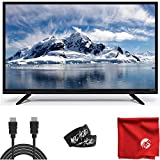 ATYME 40-Inch 1080p Full HD Built-in DVD Combo LED TV Lightweight Slim with Digital 3D Comb Filter, HDMI, USB, VGA (395AM7DVD) Bundle with 6.5 ft HDMI Cable and Accessories