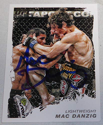 Mac Danzig Signed UFC 2011 Topps Moment of Truth Card #8 Ultimate Fighter TUF 6 - Autographed UFC Cards (Best Ultimate Fighter Moments)