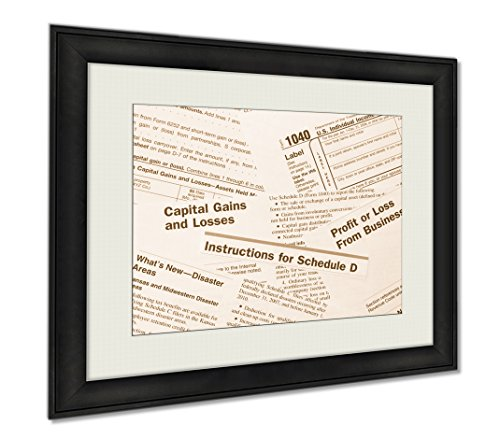 Ashley Framed Prints Irs Federal Incometax Forms, Wall Art Home Decoration, Sepia, 30x35 (frame size), AG6294445 by Ashley Framed Prints
