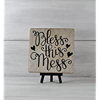 Bless This Mess, Tile Quote, Decorative Tile, Mothers Day Gift, Gifts Under 20, Inspirational Gift, Gift For Mom