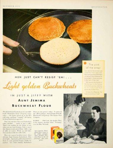 1931-ad-aunt-jemima-buckwheat-flour-pancake-breakfast-food-grocery-skillet-meal-original-print-ad