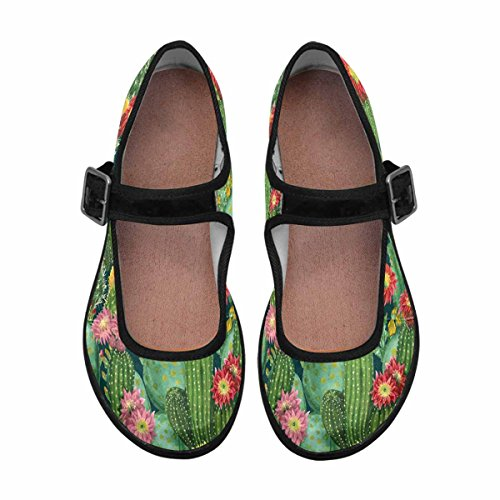 InterestPrint Womens Comfort Mary Jane Flats Casual Walking Shoes Multi 3 PwWZzWr