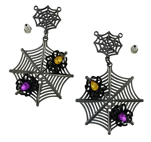 Black Spider Halloween Earrings