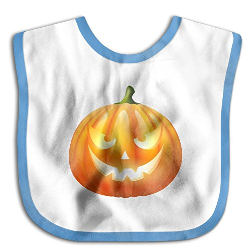 Cute Halloween Pumpkin Clipart (Cute Teething Baby Printed Halloween Pumpkin Waterproof Bibs)