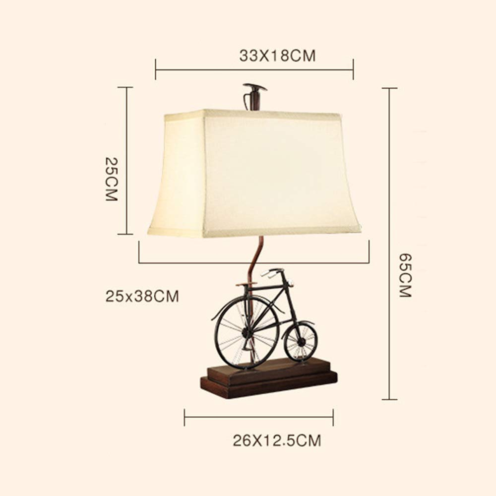 Desk Lamp-Modern Table Lamps Vintage Bicycle Bedside Table ...