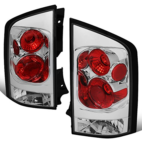 For 2005-2015 Nissan Armada Chrome Housing Altezza Style Tail Light Brake/Parking/Reverse Lamps