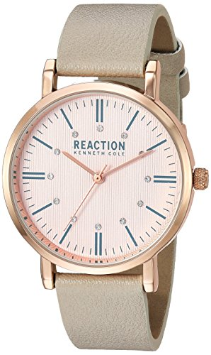 Kenneth Cole REACTION Women's Quartz Metal Casual Watch, Color:Grey (Model: RK50104002)