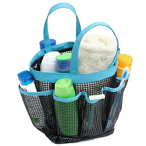 (G.U.S. Quick-Dry PVC Mesh Tote with 8 Pockets for Bath/Shower, Beach, Dorm, Travel and More - Organize and Carry Shampoo, Sunblock, Toothpaste, Face and Body Wash -)