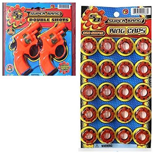 JaRu Super Bang Cap Gun 2 Pack & 320 Shots (Roll Caps)