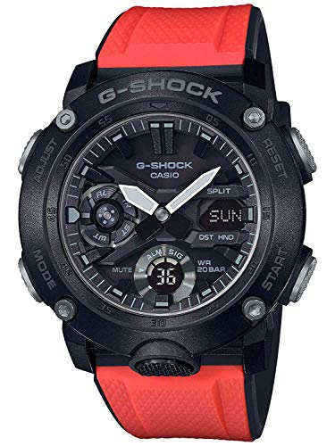 Casio G-Shock GA-2000E-4 G-Carbon Limited Edition Mens Watch w/ 2 Extra Straps (Best Selling G Shock 2019)