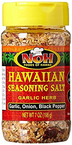 NOH Foods of Hawaii Garlic Herb Hawaiian Seasoning Salt, 7 Ounce by Noh