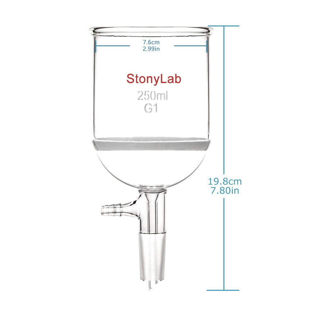StonyLab/Borosilicate/Glass/Buchner/Filtering/Funnel/with/Coarse/Frit ,/94mm/inner-diameter,/100mm/Depth,/with/24//40/Standard/Taper/Inner/Joint/and/Vacu G1