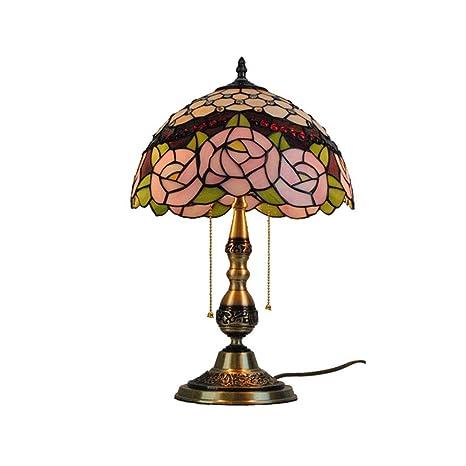 Lámparas de mesa estilo Tiffany, oficina en la base de cobre ...