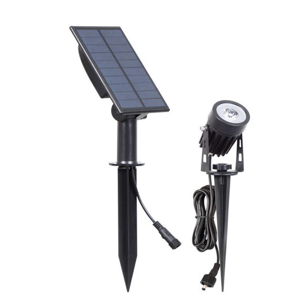 JOEPET Faretti a LED ad energia Solare,Illuminazione paesaggistica di Sicurezza per Esterni Prato da Giardino Coperture da Esterno per Piscine Alberi Decorazione a Terra (2 Pezzi),3Wwarmlight(3000k)