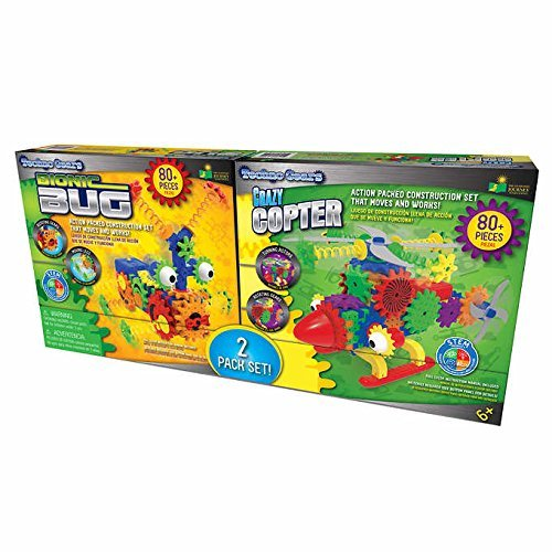 Learning Journey Techno Gears - The Learning Journey Techno Gears Bionic Bug & Crazy Copter Set for Ages 6+