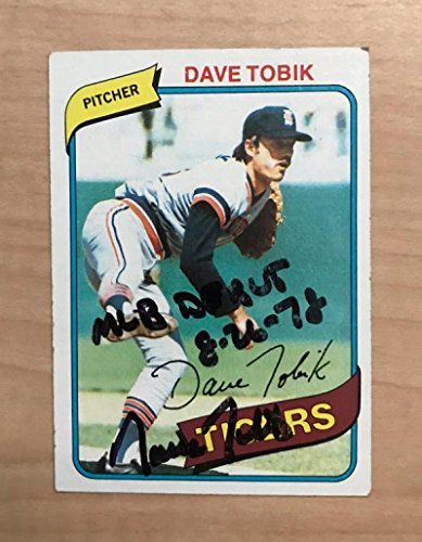 DAVE TOBIK DETROIT TIGERS SIGNED AUTOGRAPHED 1980 TOPPS CARD #269 (1980 Topps Card Photo)
