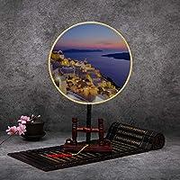 Impresionante Vista de noche de Santorini Ventilador antiguo chino Clásico Palacio Ventilador de paleta Ventilador de baile Ventilador de mano Ventilador de manos Ventiladores para mujeres Ventilador: Amazon.es: Hogar