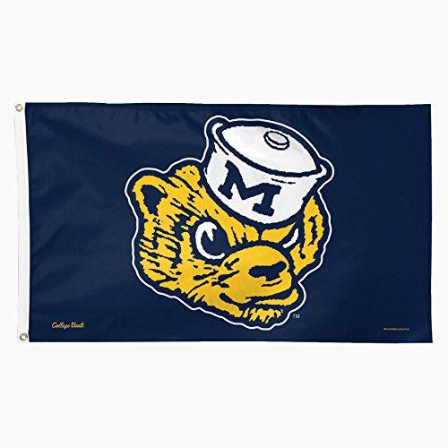 Univ Wall - NCAA College Vault Michigan Wolverines Flag Deluxe, 3 x 5-Foot