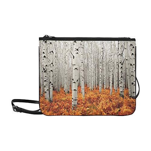 Mens Fashion Travel Bag Autumn Tree Forest American Aspens Populus Tremulo High-grade Nylon Adjustable Shoulder Strap Tote Bags Crossbody For Shopping Travel Hiking Work