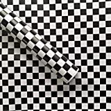 """Tools & Hardware : practicalWs Contact Paper Black/White Mosaic Contact Paper Removable Shelf Liner Night Stand Wallpaper (17.71"""" Wide x 78.7"""" Long)"""