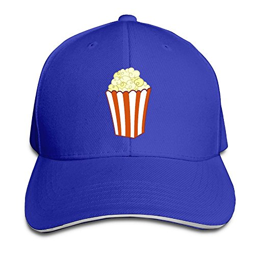 Macevoy Popcorn Art Casual Unisex Unstructured Cotton Cap Adjustable Baseball Hat Cap Royalblue for $<!--$3.49-->