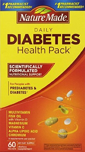Nature Made Diabetes Health Pack, 60 Packets (Nutrients 60 Packets)