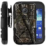 Samsung Galaxy Ace Style Case, Samsung Galaxy Ace Style Holster, Two Layer Hybrid Armor Hard Cover with Built in Kickstand for Samsung Galaxy Ace Style S765C SM-G310 from MINITURTLE   Includes Screen Protector - Nature's Camouflage
